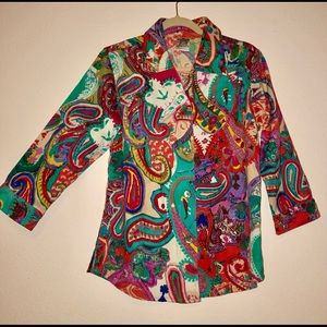Parsley and Sage Vibrant Multicolor Jacket sz M